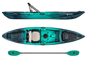 Vibe-Yellowfin-120-Kayak-Package-12-Foot-Fishing-Kayak